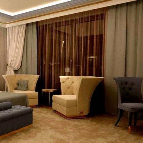 Draperii blinduri perdele sistem glisare camera hotel